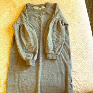 Ballon sleeve sweater dress.